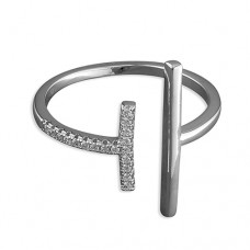Vertical Double Bar Ring