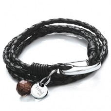 Ladies Black Wrap Around Bracelet