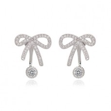 Tied Bow Back to Front Earrings