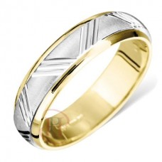 6 mm Two Colour T5270 Wedding Ring