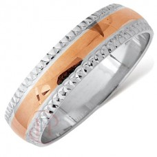6 mm Two Colour T79V Wedding Ring