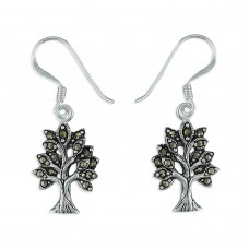 Tree of Life Marcasite Earrings