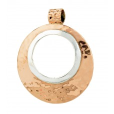 Sterling Silver & Copper Open Circle Pendant