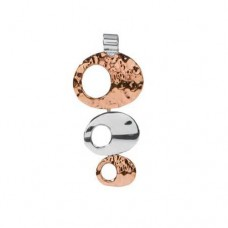 Sterling Silver & Copper Three Circle Pendant