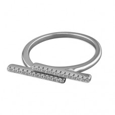 Horizontal Double Bar Ring