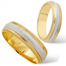 4 mm Two Colour T170 Wedding Ring