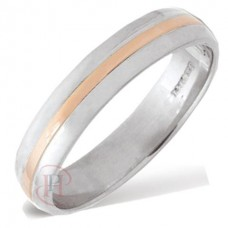 4 mm Two Colour T410V Wedding Ring