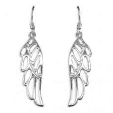Angel Wing Ear Wire Drop Earrings